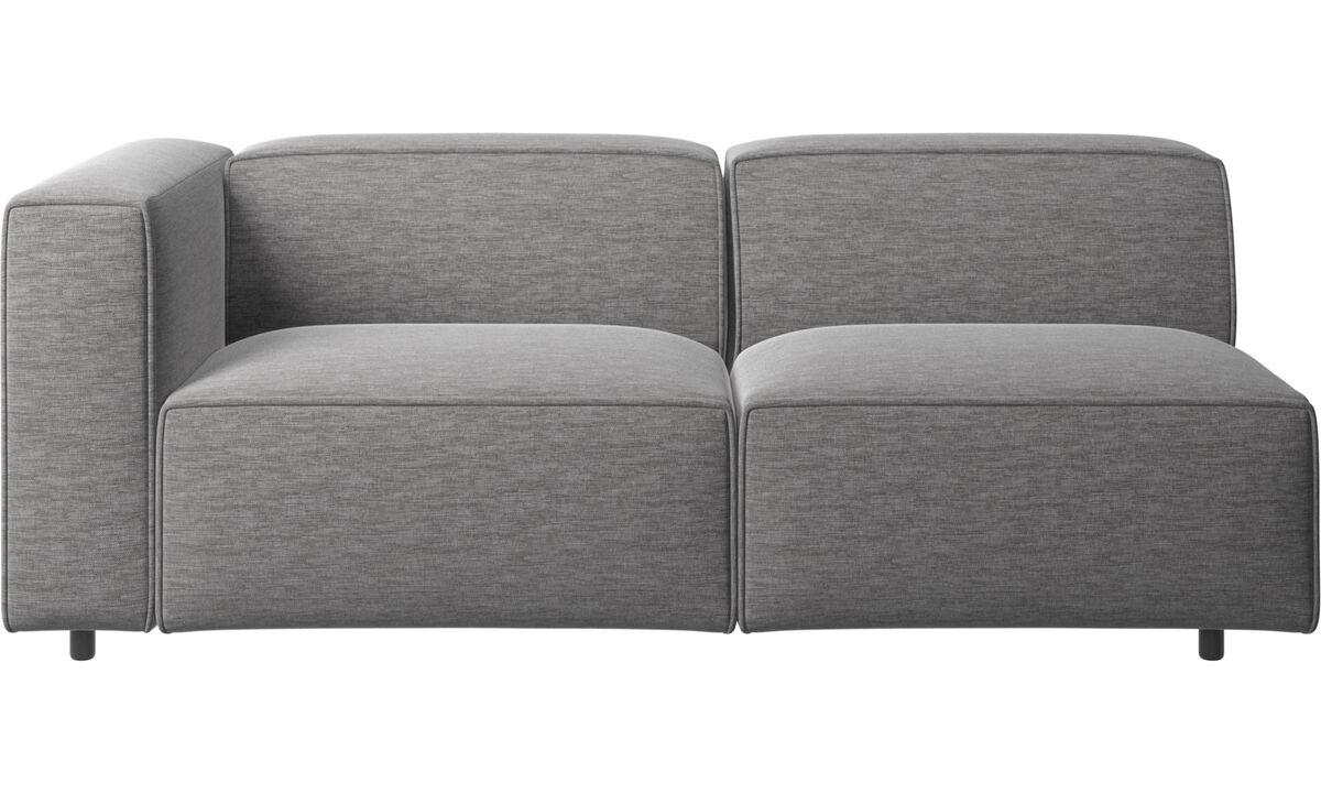 Sofás de 2 plazas y media - Sofá Carmo - En gris - Tela