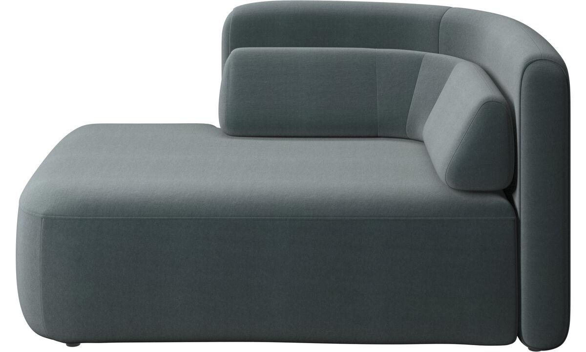 Modulárne sedačky - 1,5 sed Ottawa, otvorená lavá strana - Modrá - Látka