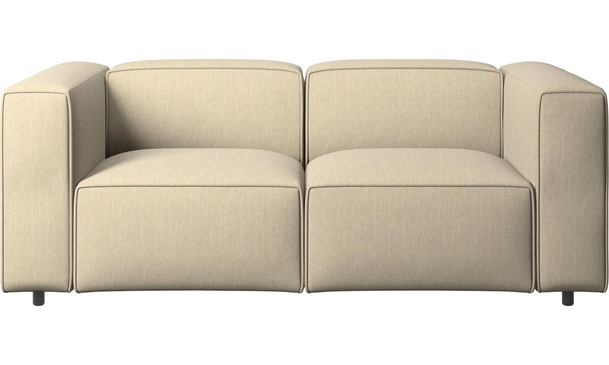 2 seater sofas - Carmo sofa - Brown - Fabric