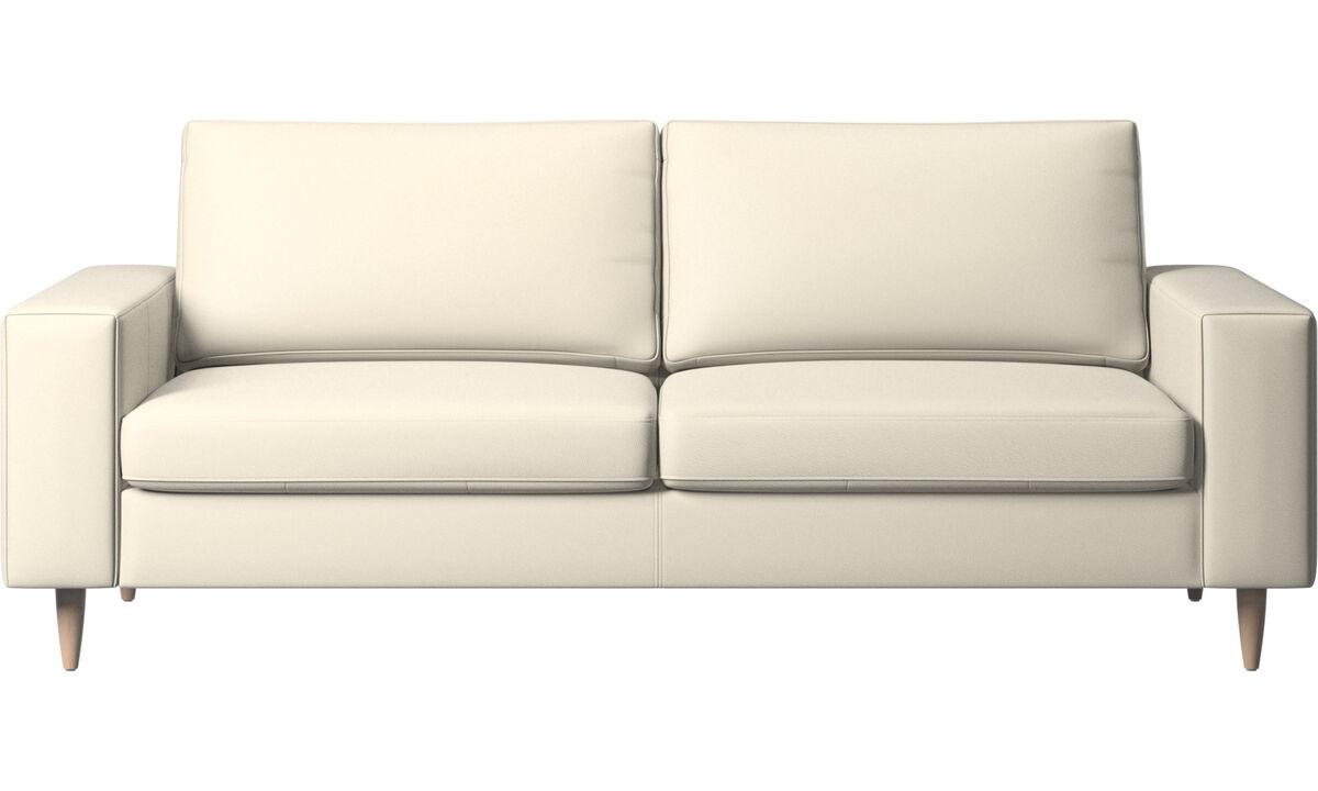 2.5 seater sofas - Indivi sofa - White - Leather