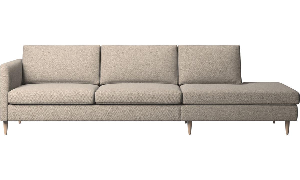Диваны без подлокотников - диван Indivi с модулем для отдыха - Бежевого цвета - Tкань