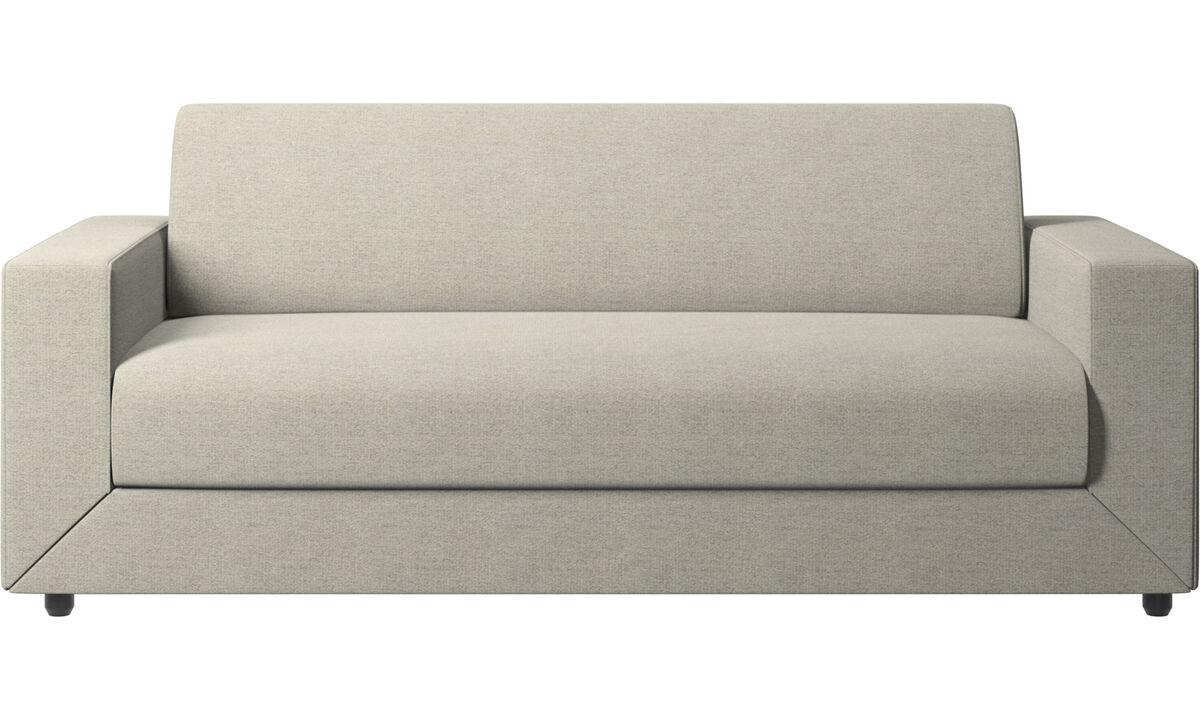 Sofás cama - sofá cama Stockholm - En beige - Tela