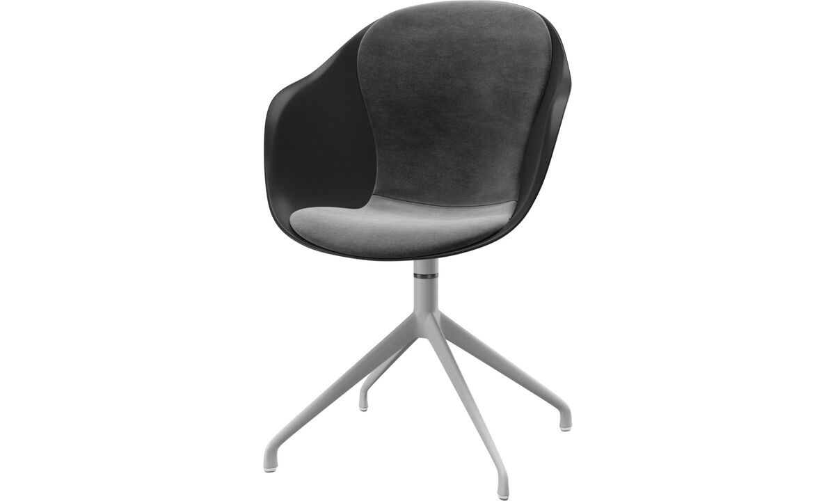 Dining chairs - Adelaide chair with swivel function - Grey - Fabric