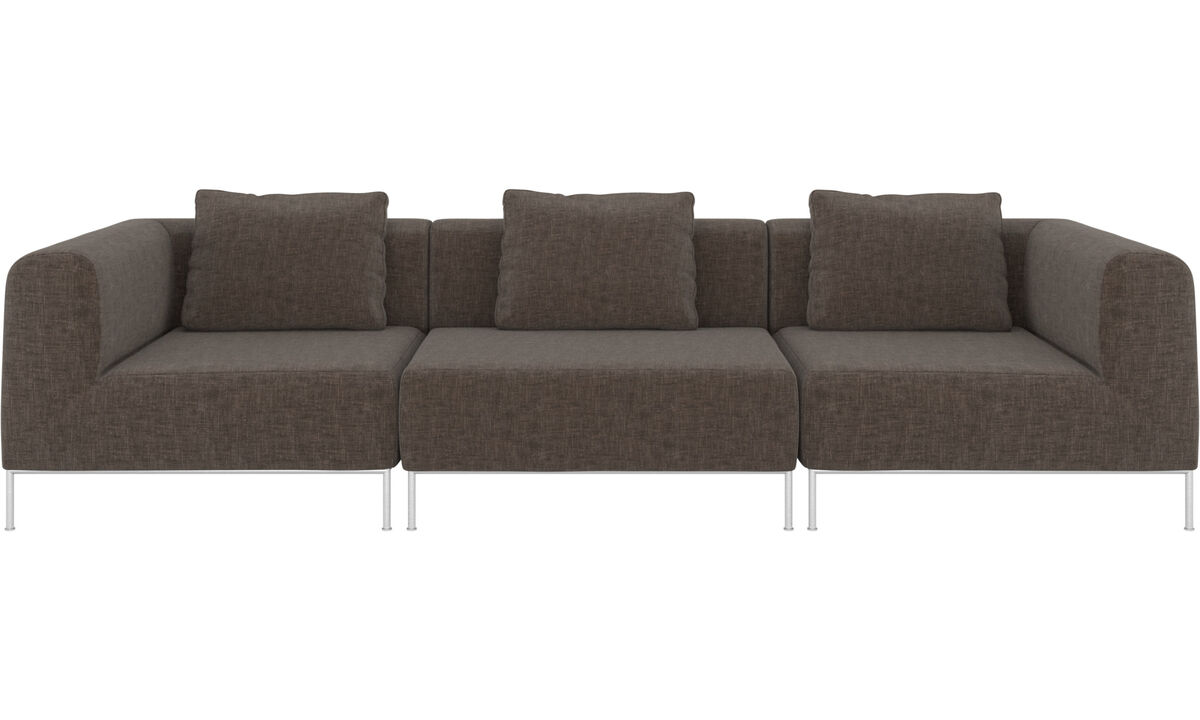3 seater sofas - Miami sofa - Grey - Fabric