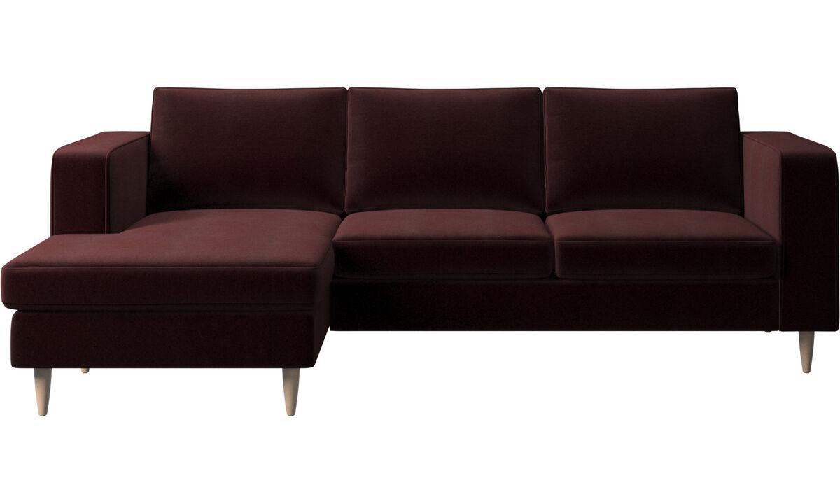 Sofás con chaise longue - sofá Indivi con módulo chaise-longue - Morado - Tela