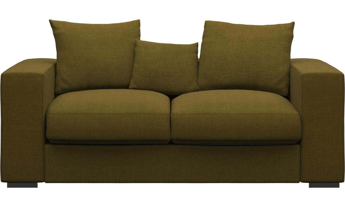 2 seater sofas - Cenova sofa - Yellow - Fabric
