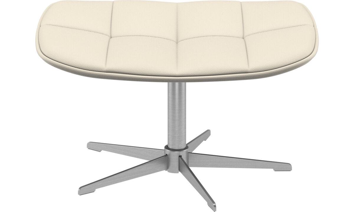 Footstools - Boston footstool - White - Leather