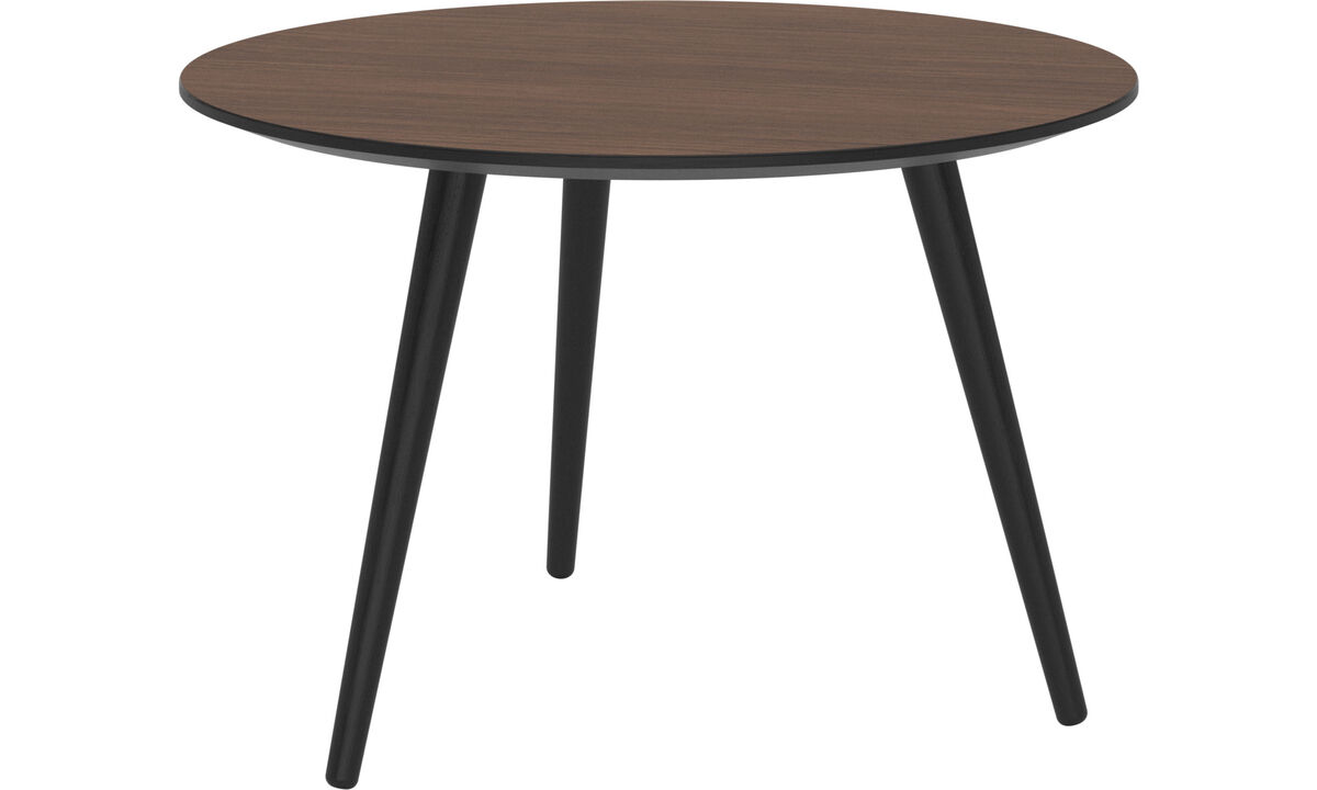 Night stands - Bornholm coffee table - round - Brown - Walnutlacquered