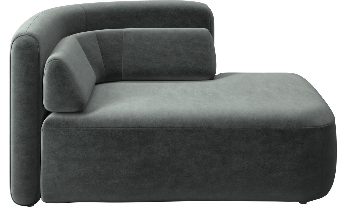 Modular sofas - Ottawa 1,5 seater open end right side - Green - Fabric