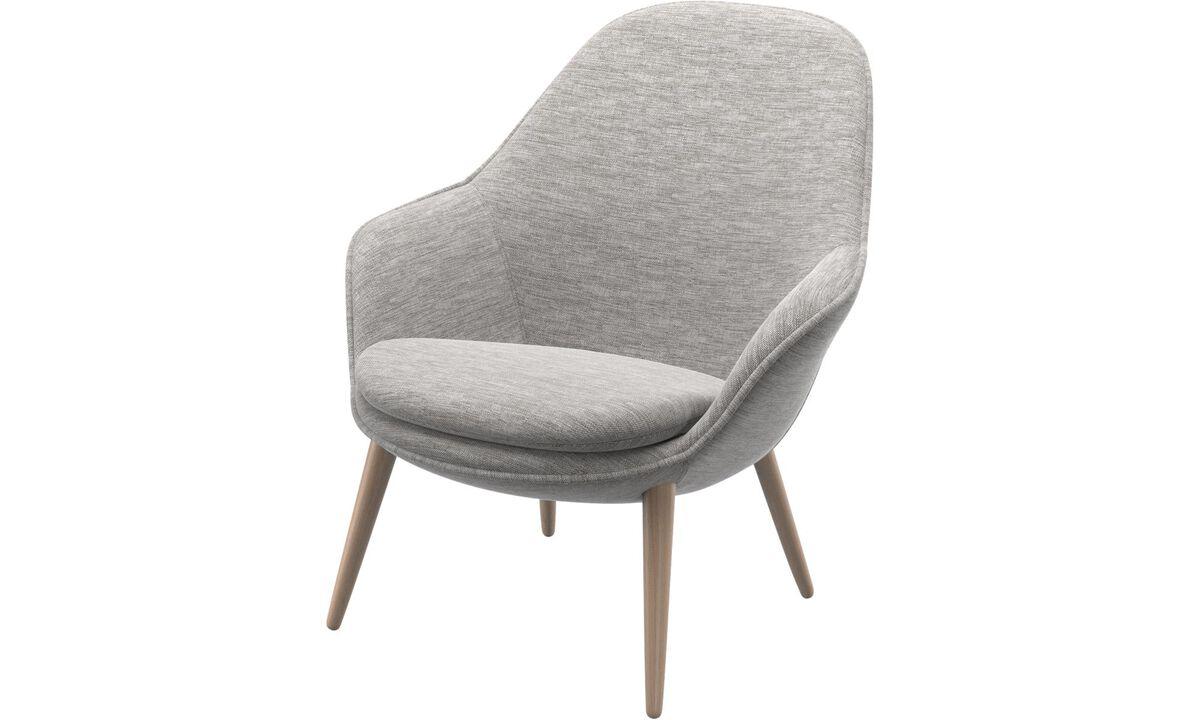 Fauteuils - Adelaide fauteuil - Grijs - Stof