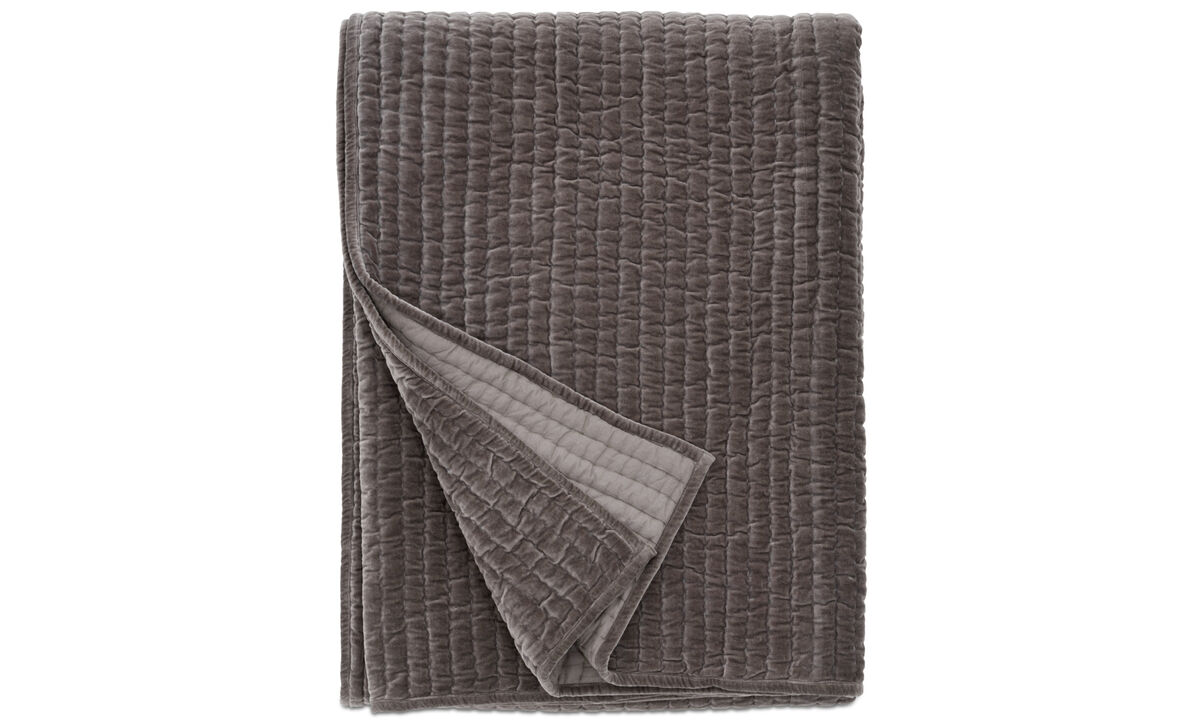 Throws & bedspreads - Hibernate bedspread - Grey - Fabric
