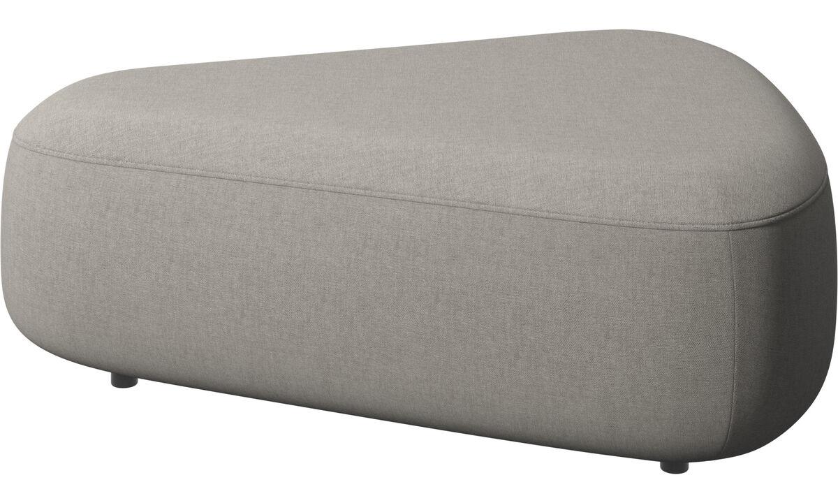 Modular sofas - Ottawa triangular pouf - Grey - Fabric