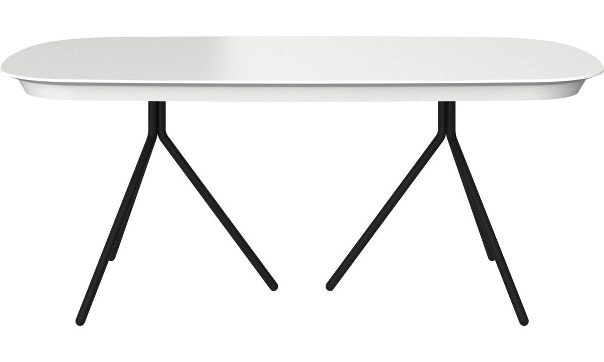 Mesas de comedor - Mesa extensible con tablero suplementario Ottawa - ovalado - Blanco - Laca