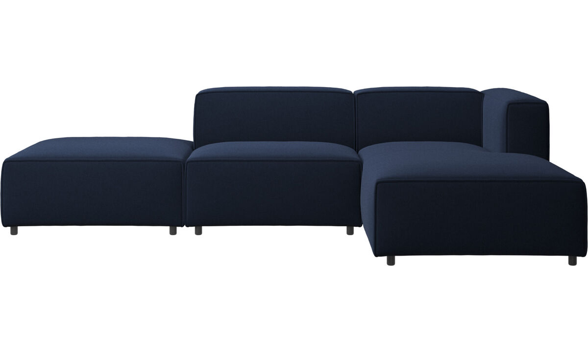 Chaise lounge sofas - Carmo sofa with resting unit - Blue - Fabric