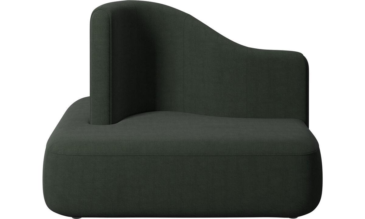Modular sofas - Ottawa square high back - Green - Fabric