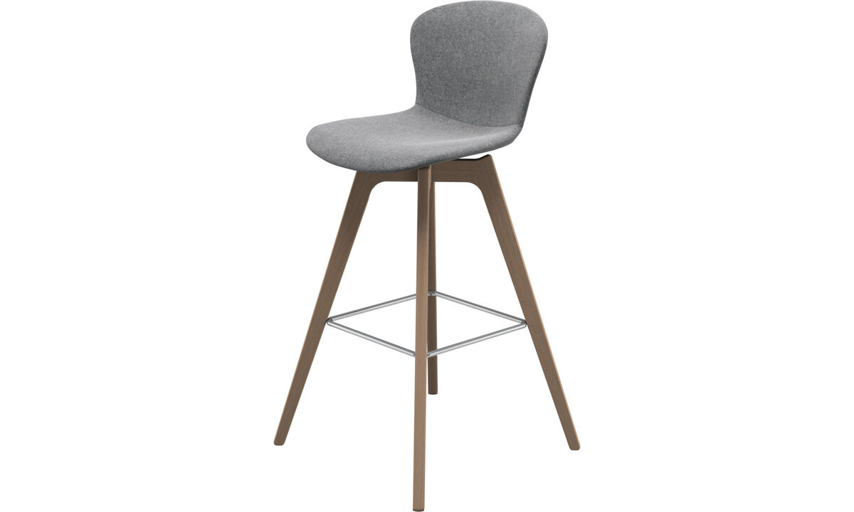 Bar stools - scaun de bar Adelaide - Grey - Fabric