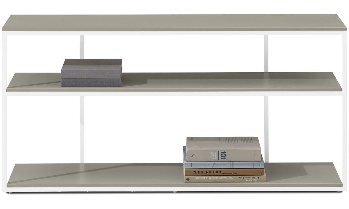 Muebles para recibidor - Consola Bordeaux - rectangular - En gris - Laca