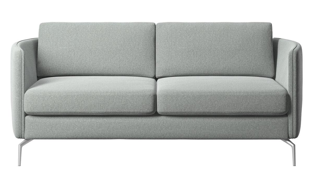 Sofás de 2 plazas - sofá Osaka, asiento regular - En gris - Tela