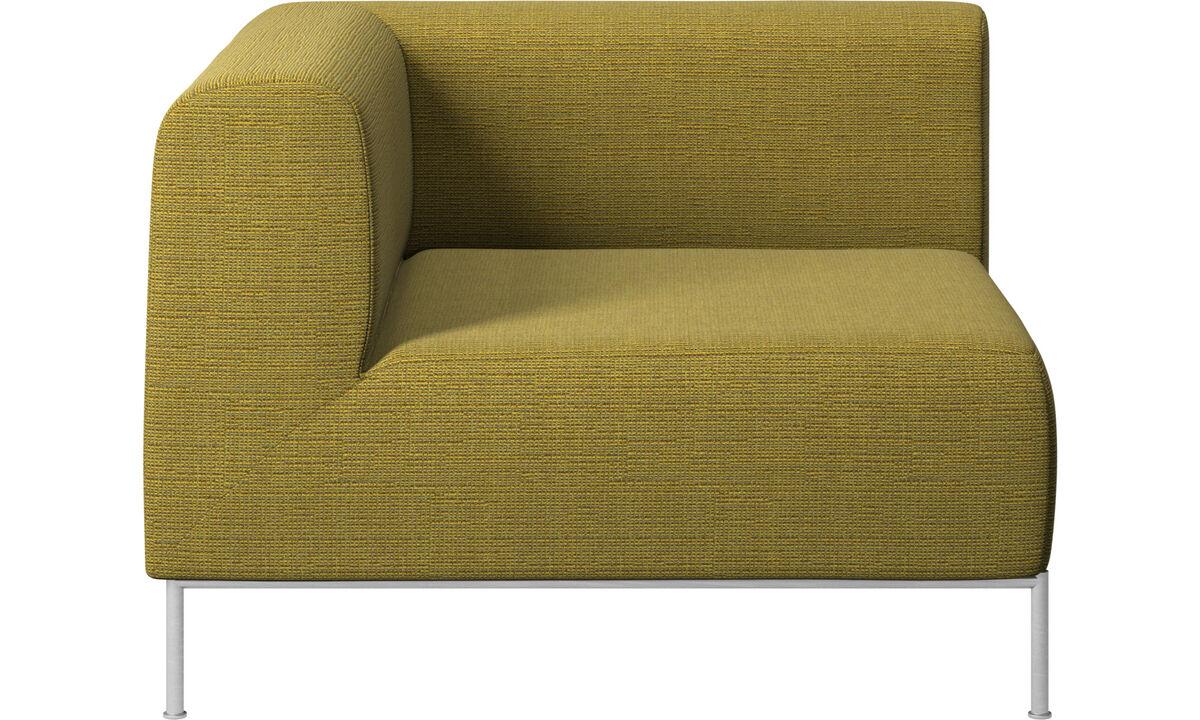 Modulære sofaer - Miami hjørnemodul venstre side - Gul - Stof