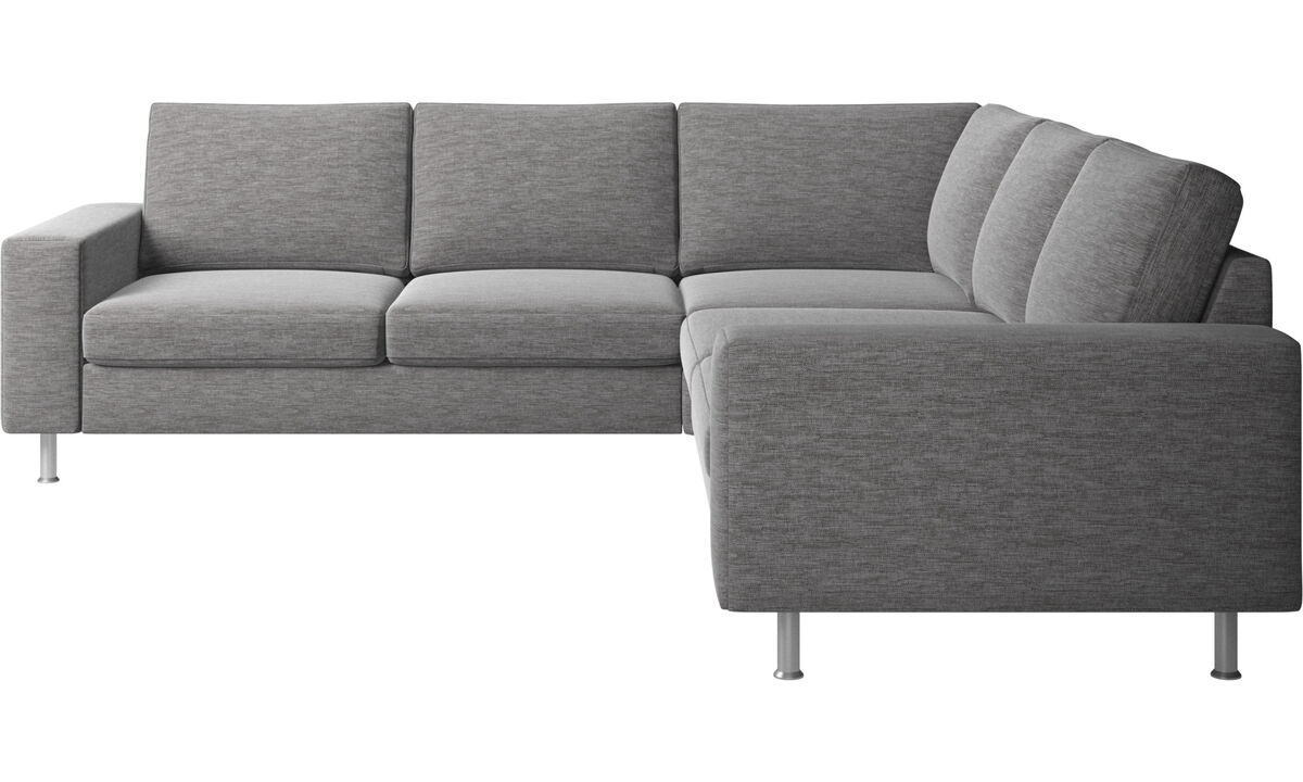 New designs - Indivi 2 corner sofa - Grey - Fabric