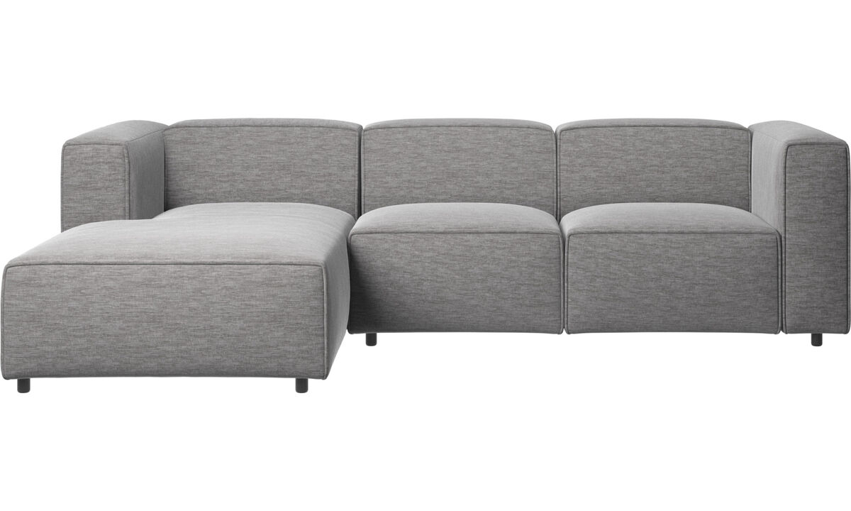 Chaise longue sofas - Carmo motion sofa with resting unit - Grey - Fabric