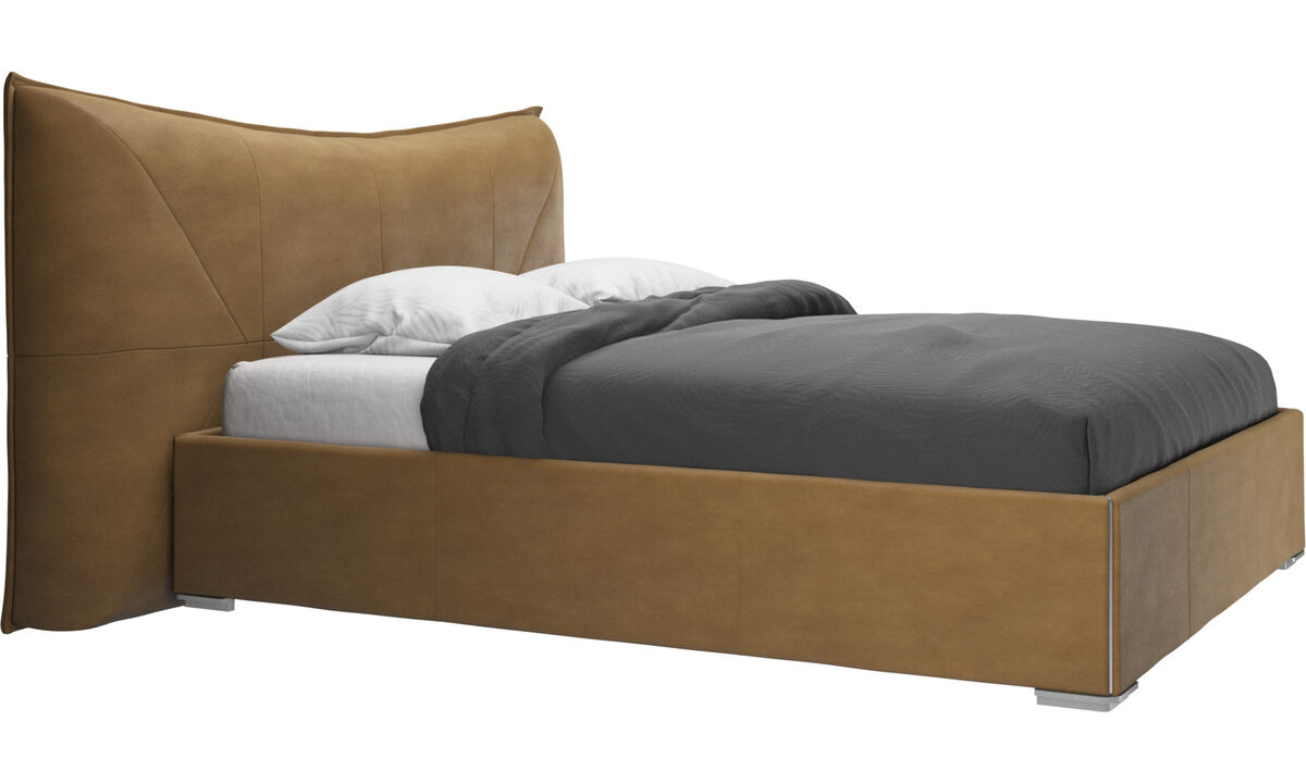 Beds - Gent bed, excl. slats and mattress - Brown - Leather