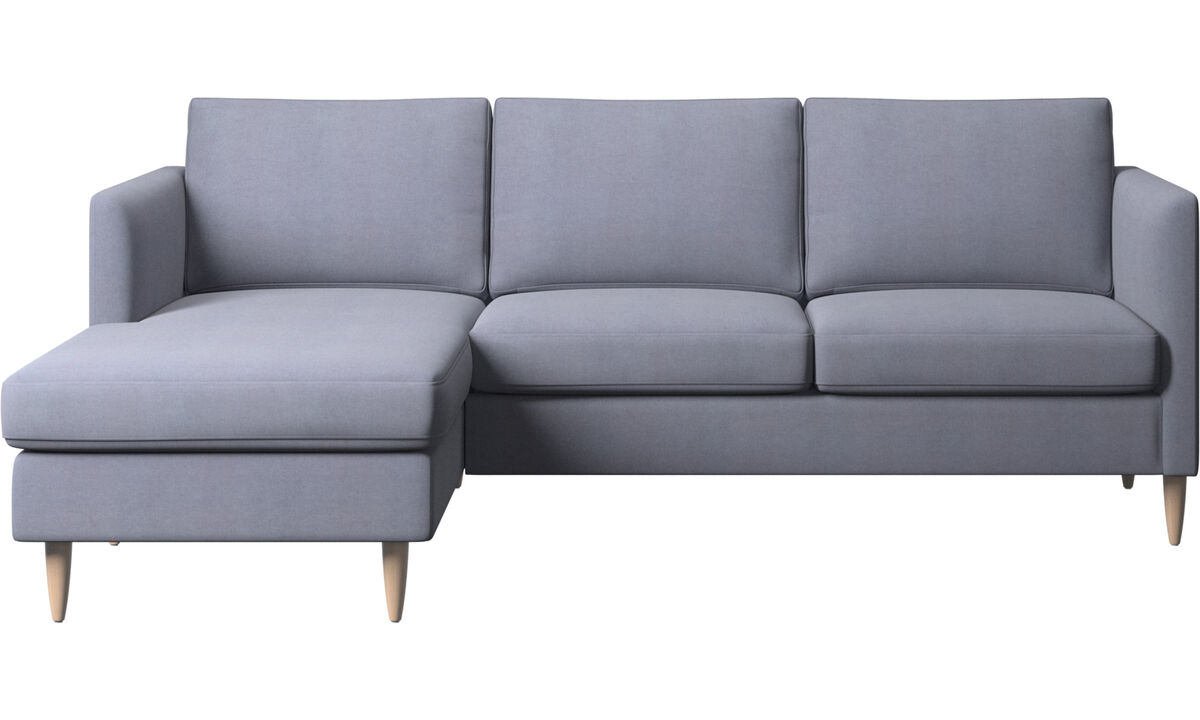 Chaise longue sofas - Indivi sofa with resting unit - Blue - Fabric