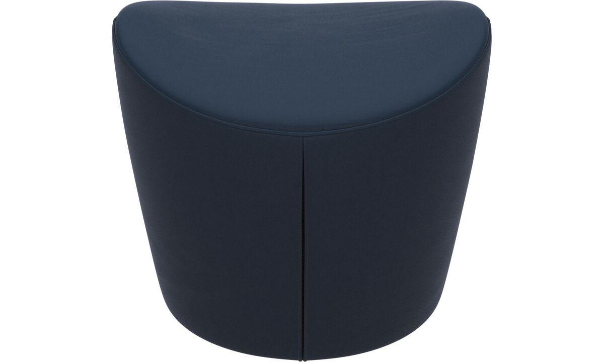 Footstools - Rico footstool - Blue - Leather
