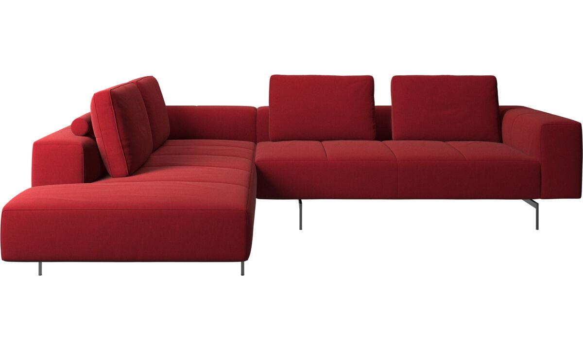 Hjørnesofaer - Amsterdam hjørnesofa med loungemodul - Rød - Stof