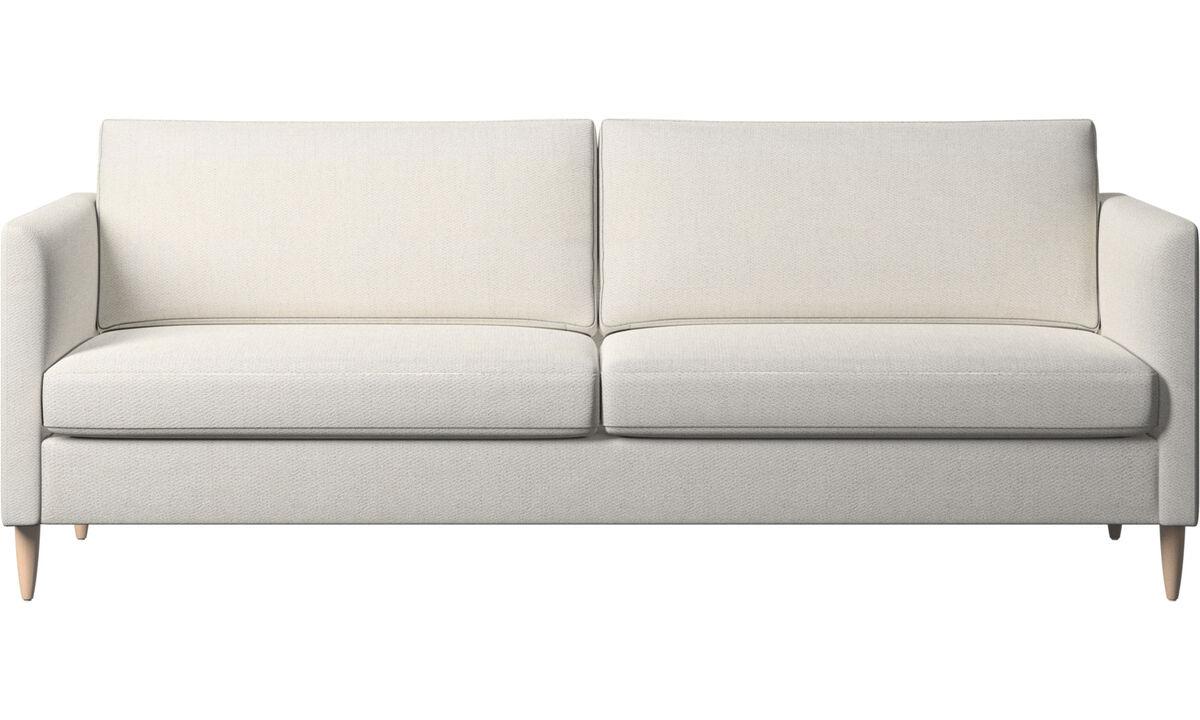 3 seater sofas - Indivi sofa - White - Fabric