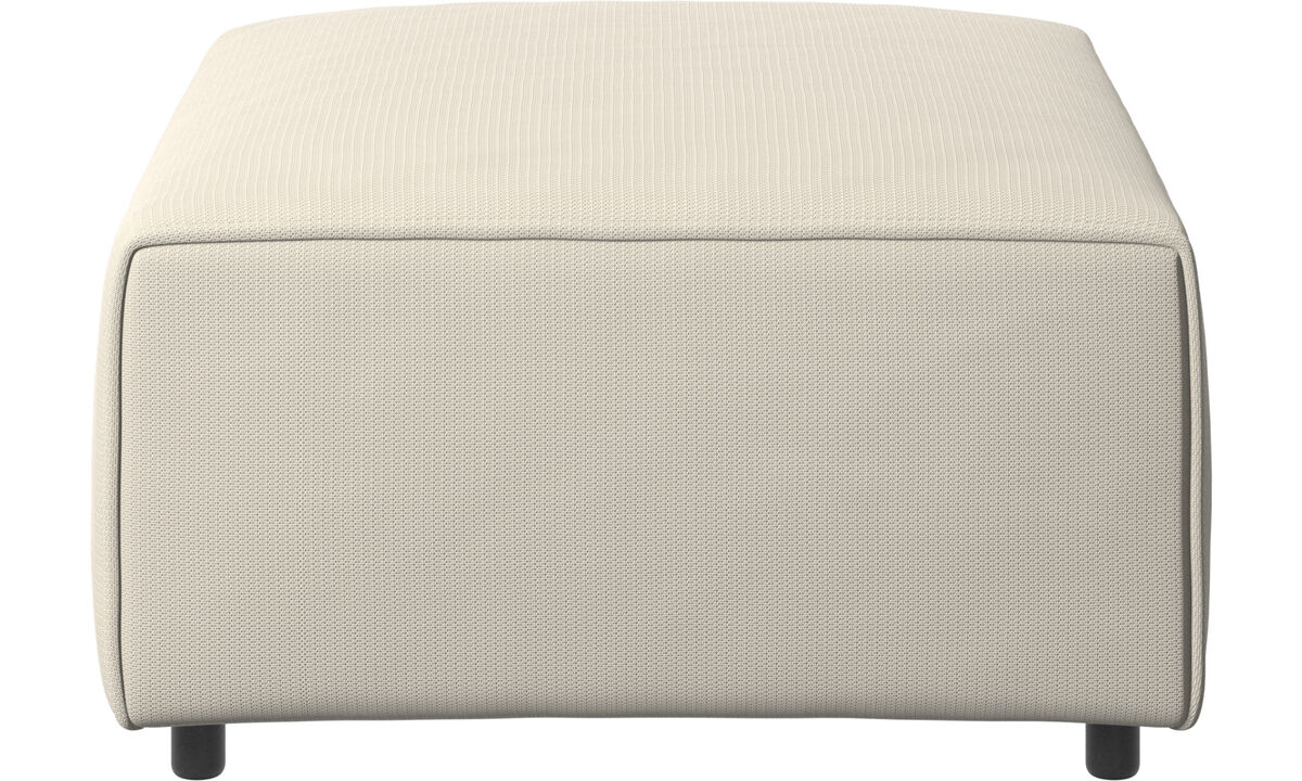 Modular sofas - Carmo 脚凳 - 白色 - 布艺