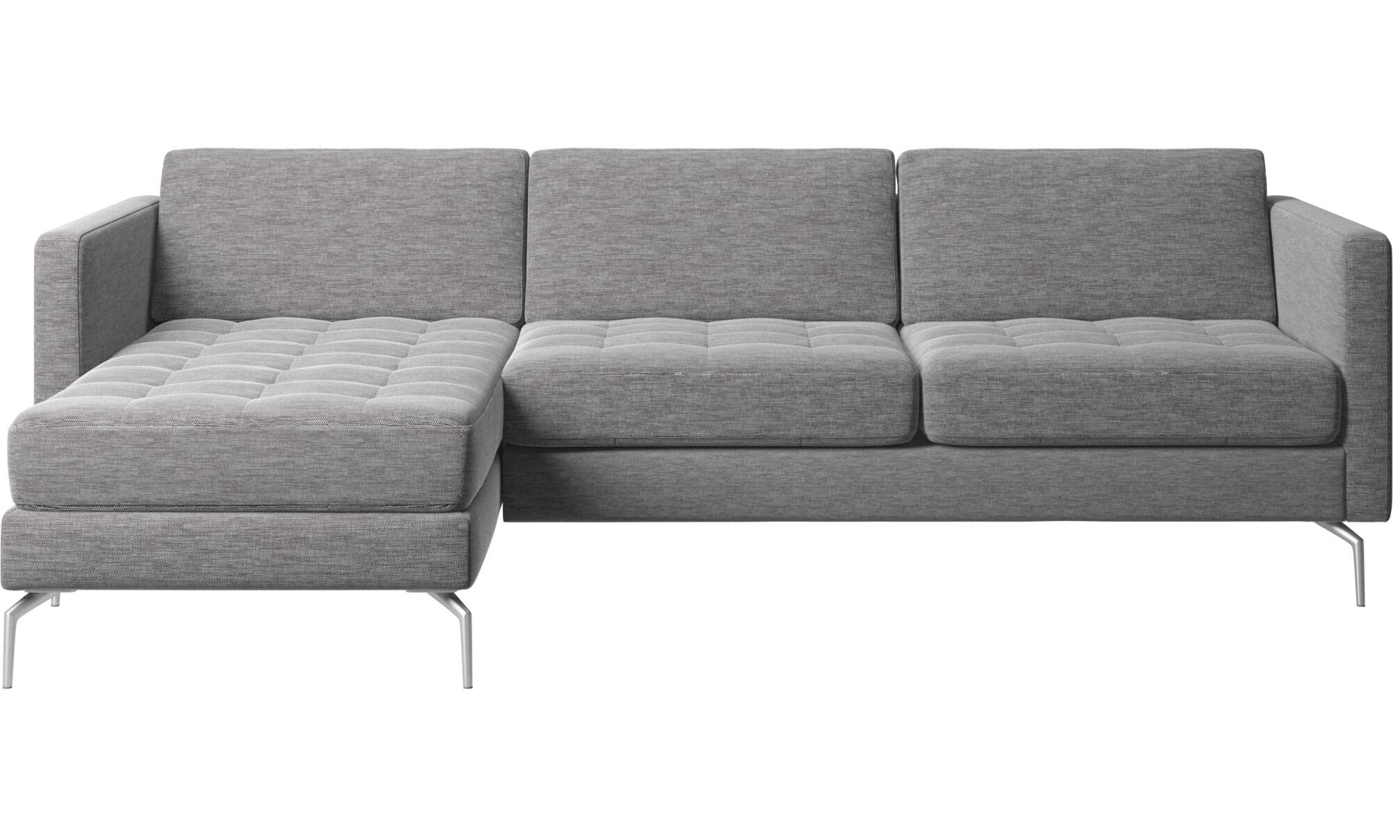 Unsere Neuheiten   Osaka Sofa Mit Ruhemodul, Getuftete Sitzfläche   Grau    Stoff