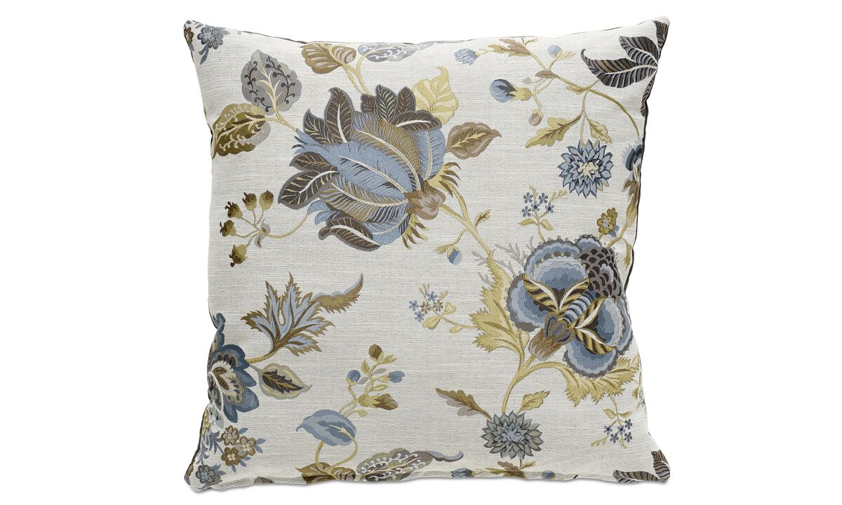 Cushions - Flower cushion - Blue - Fabric