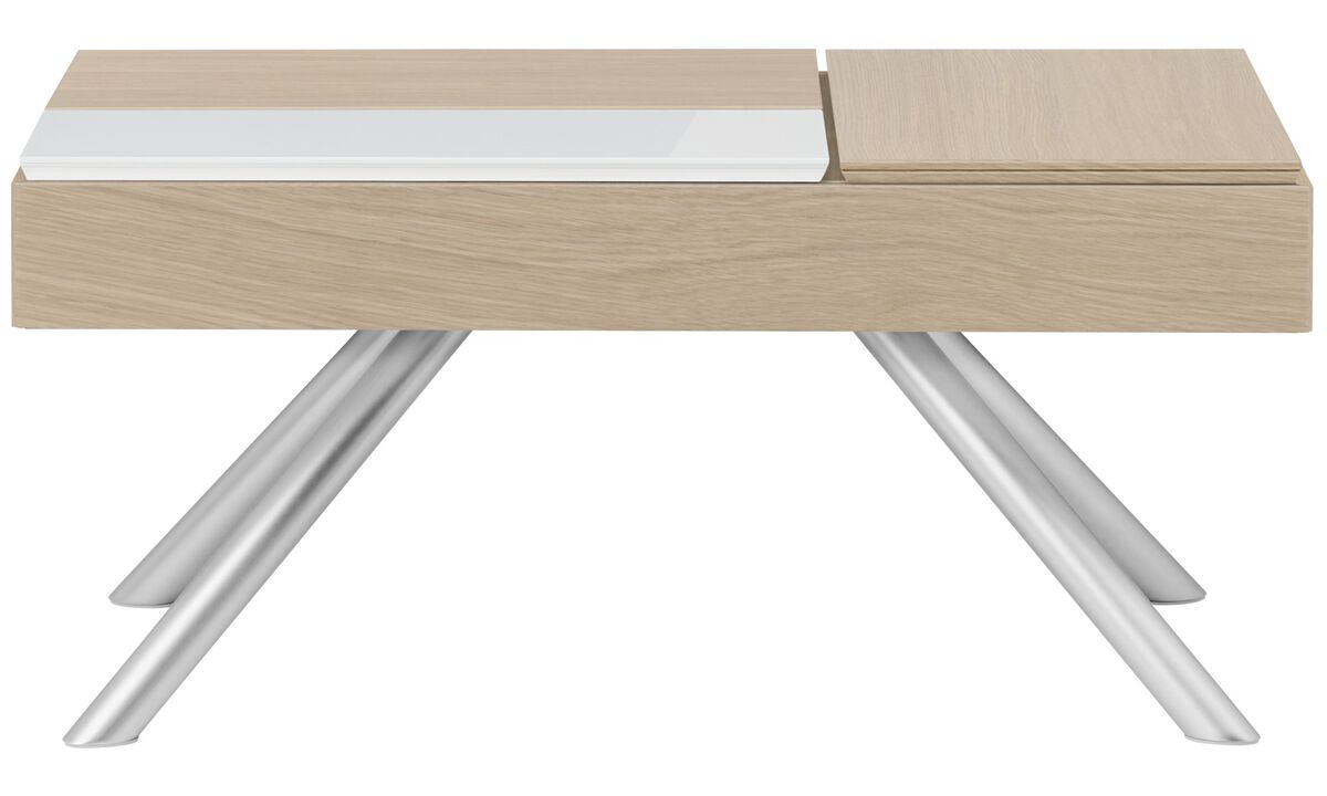 Mesas de centro - mesa de centro funcional Chiva con espacio de almacenamiento - rectangular - En marrón - Roble