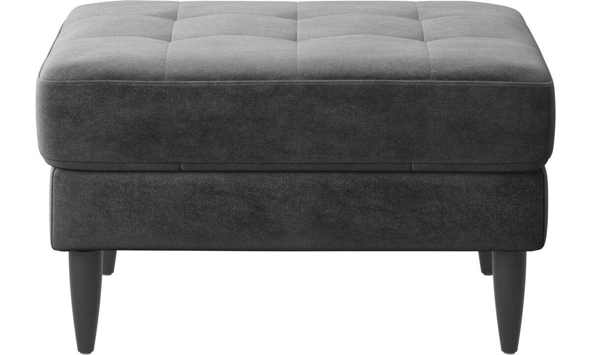 Nuevos diseños - puf Osaka, asiento en capitoné - En gris - Tela