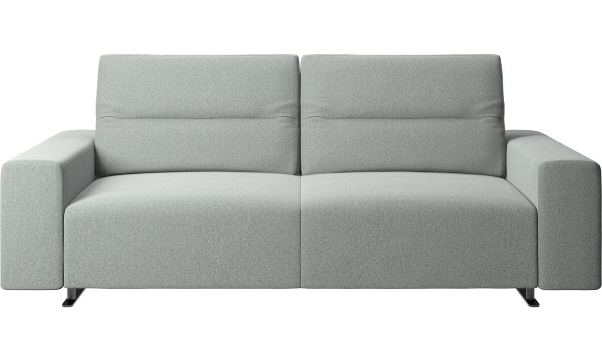 2.5 seater sofas - Hampton sofa with adjustable back and storage on the right side - Gray - Fabric