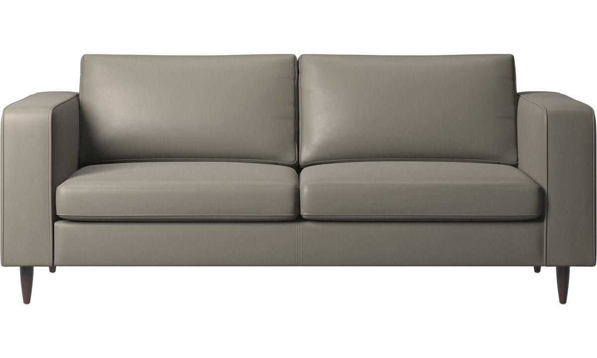 2.5 seater sofas - Indivi divano - Grigio - Pelle