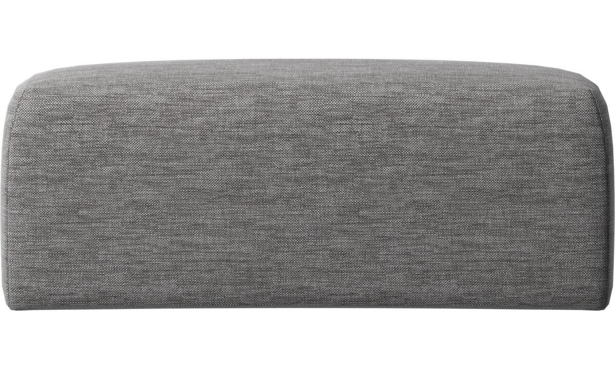Příslušenství k nábytku - Atlanta opěrné polštáře - Šedá barva - Látka