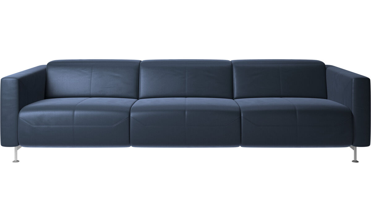 3 seater sofas - Parma reclining sofa - Blue - Leather
