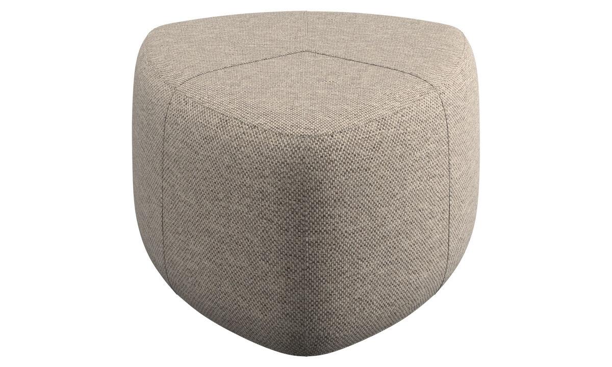 Footstools - Bermuda footstool - Beige - Fabric