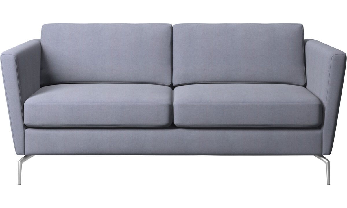 2-sitzer Sofas - Osaka Sofa, klassische Sitzfläche - Blau - Stoff