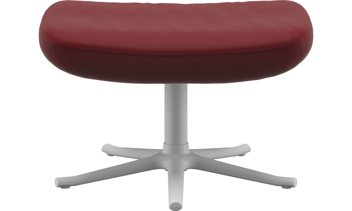 Footstools - Lucca footstool - Red - Leather