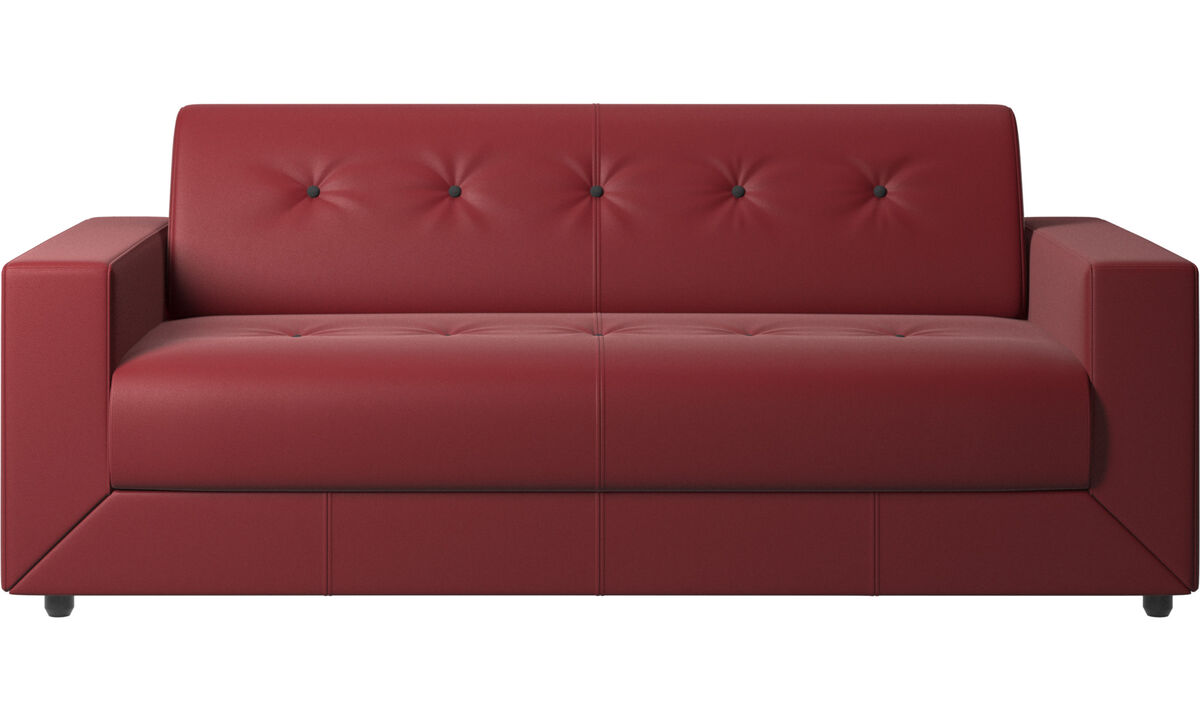 Sofa beds - Stockholm sofa bed - Red - Leather