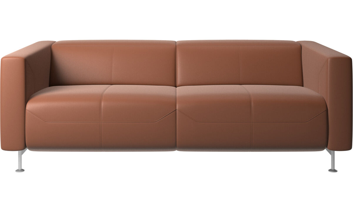 2.5 seater sofas - Parma reclining sofa - Brown - Leather