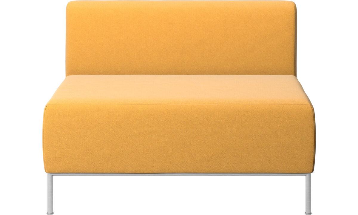 Sillones - Asiento Miami con respaldo - En amarillo - Tela