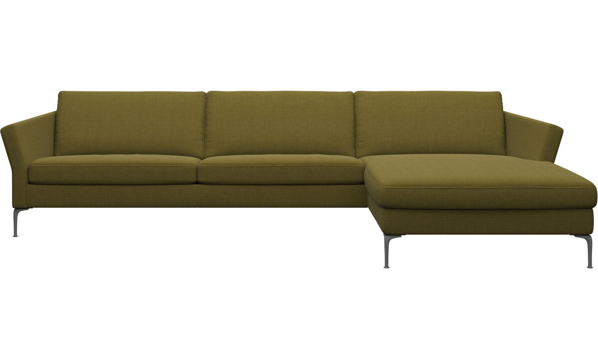 Chaise lounge sofas - Marseille sofa with resting unit - Yellow - Fabric