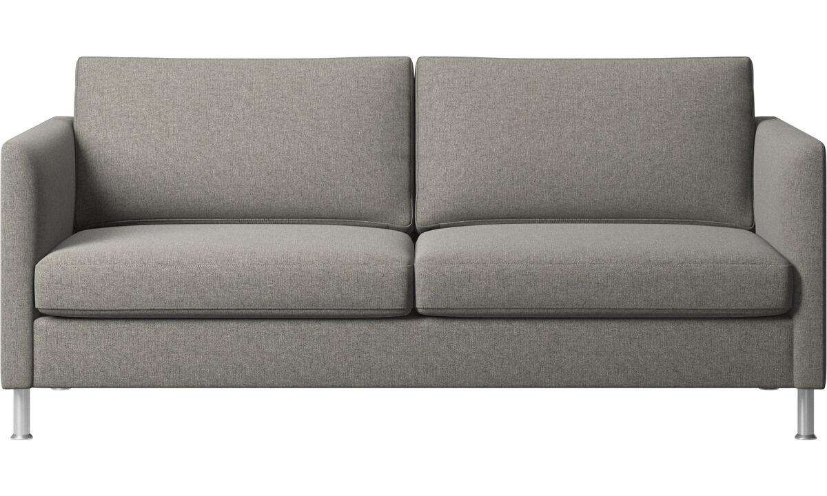 2.5 seater sofas - Indivi divano - Nero - Tessuto