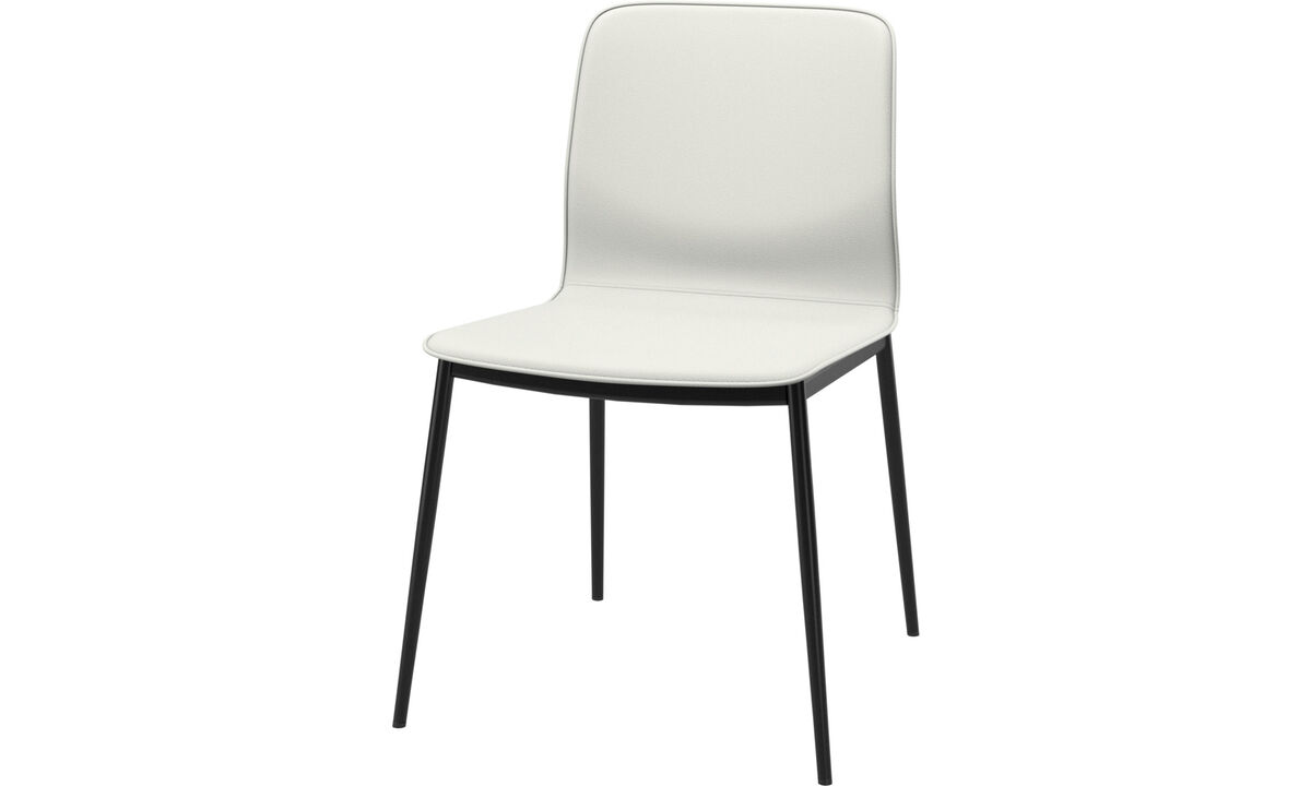 Dining chairs - Newport dining chair - White - Leather