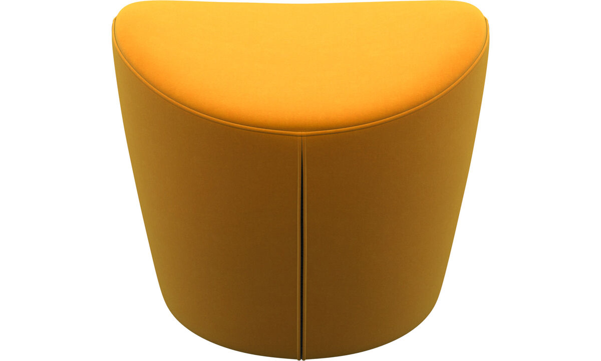 Footstools - Rico footstool - Orange - Fabric