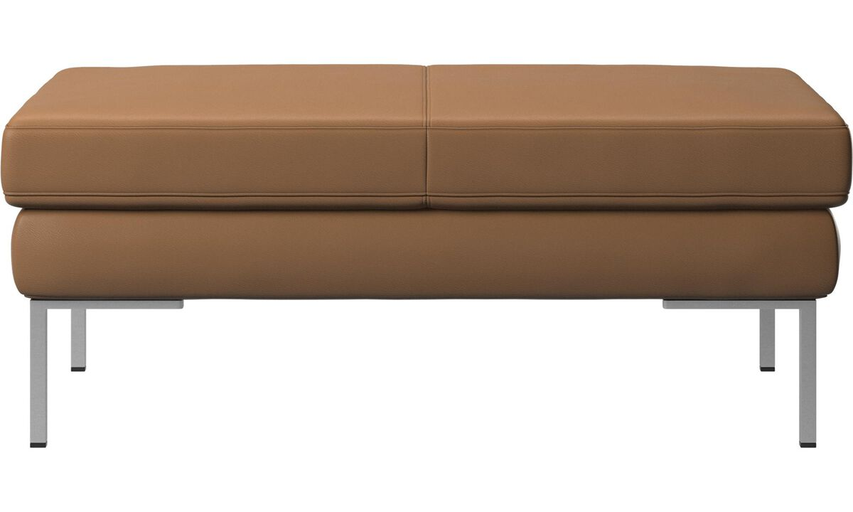 Armchairs and footstools - Istra 2 footstool - Brown - Leather
